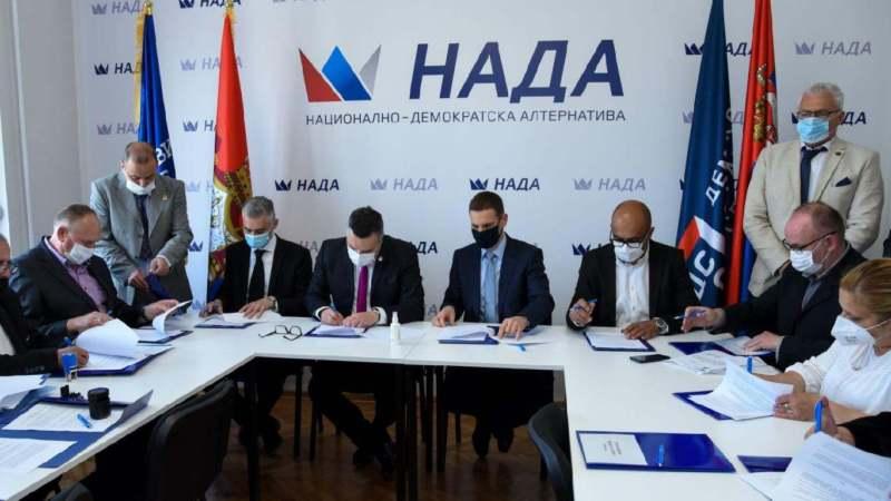 POKS, DSS i 19 udruženja i grupa građana potpisali koalicioni sporazum