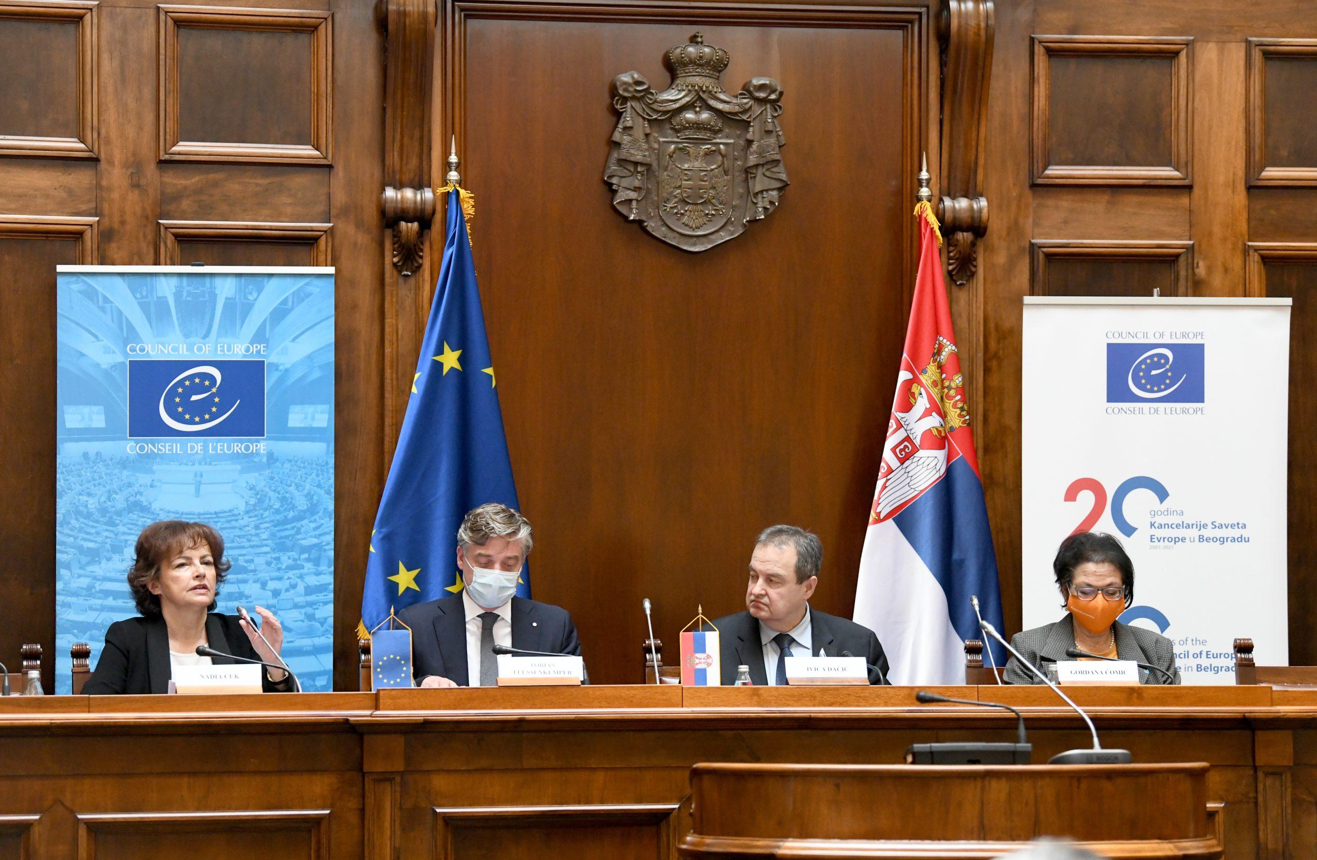 Kancelarija Saveta Evrope u Beogradu obeležila 20 godina postojanja 1
