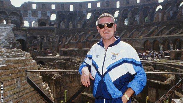 Paul Gascoigne in Rome