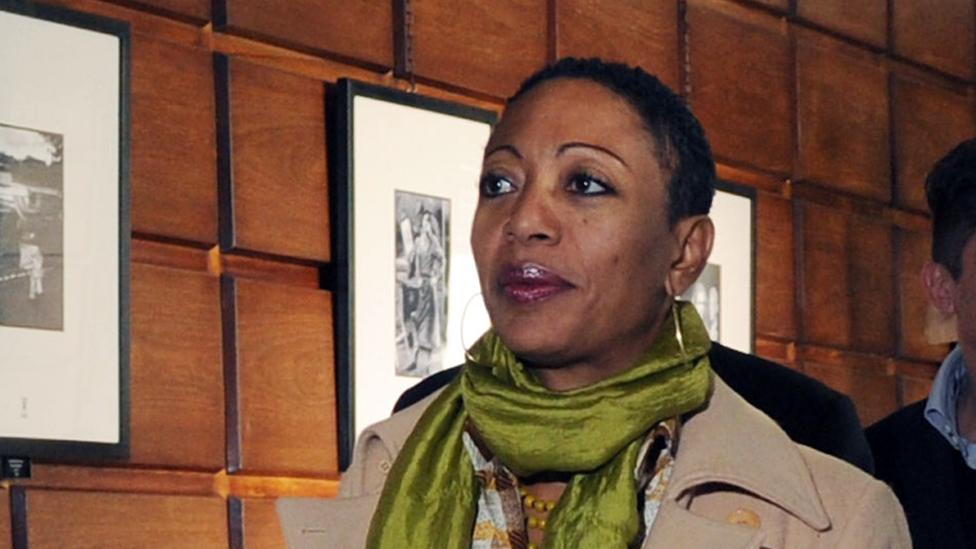 Samia Nkrumah during a visit to Milan