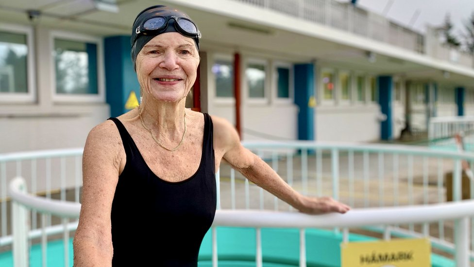 Oddly Margret Latansdottir has been swimming at these hot pools since she was one year old