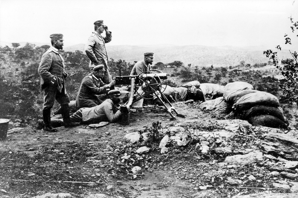 A German machine gun position (1904)