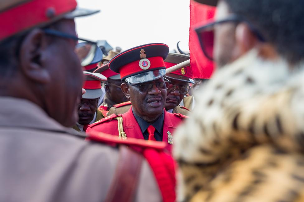 The Herero paramount chief, Vekuii Rukoro