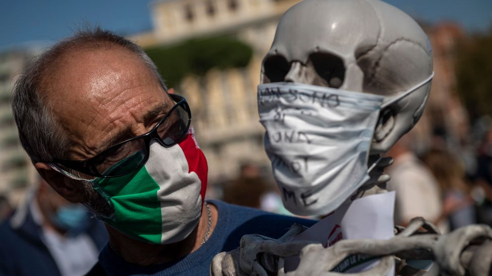 Negationist protests in Rome, due to the coronavirus pandemic
