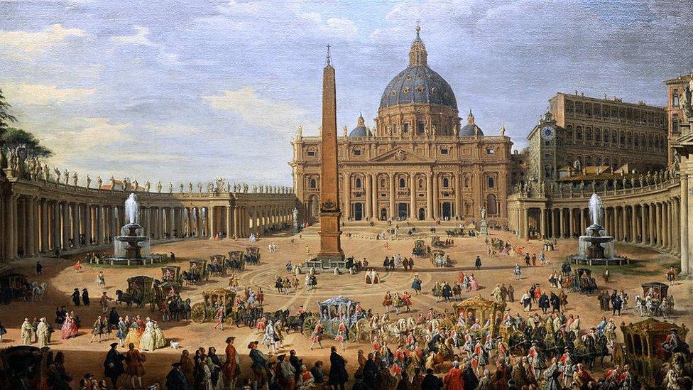 XVII Century painting of The Vatican