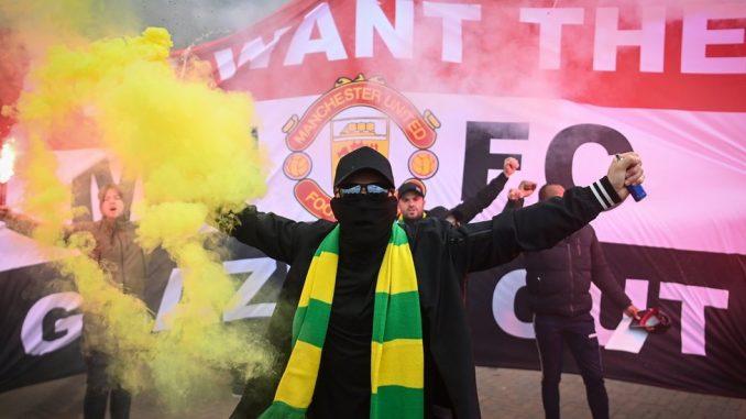 Fudbal i Velika Britanija: Dug od 520 miliona evra i Superliga Evrope - protesti navijača Mančester Junajteda 5