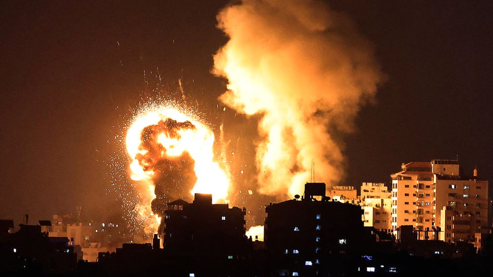 The Israeli military conducted air strikes in the Gaza Strip, 10 May 2021
