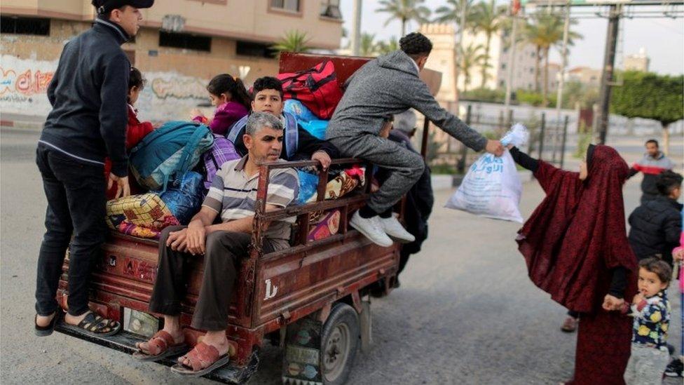 People flee homes in Gaza
