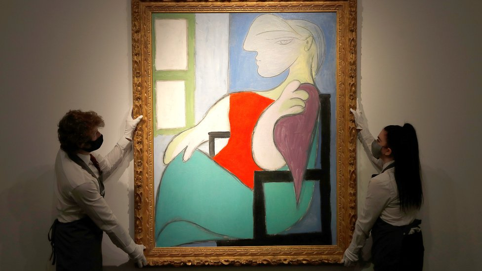Femme Assise Pres d'Une Fenetre (Marie-Therese) by Pablo Picasso at Christie's gallery