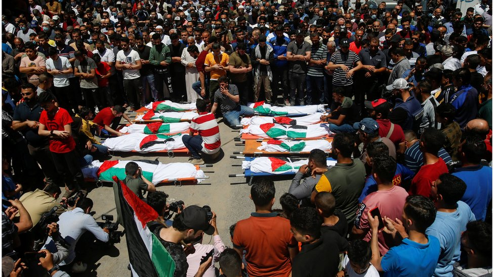 Funerals in Gaza, 15 May