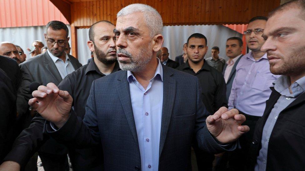 Yehiya Sinwar in Gaza City, 28 October 2019