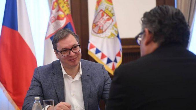 Vučić sa ambasadorom Češke uoči posete Pragu 5