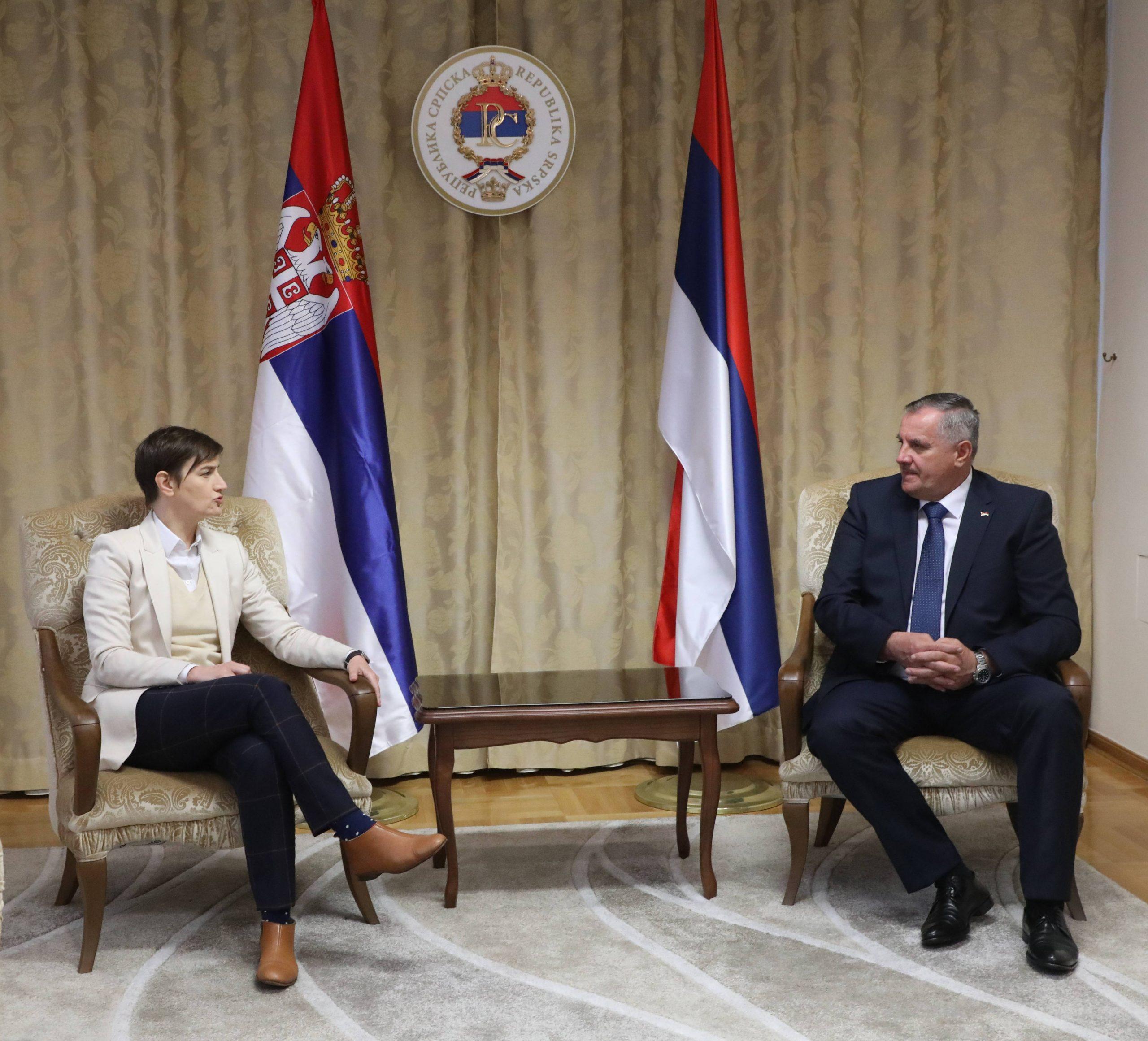 Brnabić: Od 2014. godine do danas Srbija u RS uložila više od milijardu evra 1