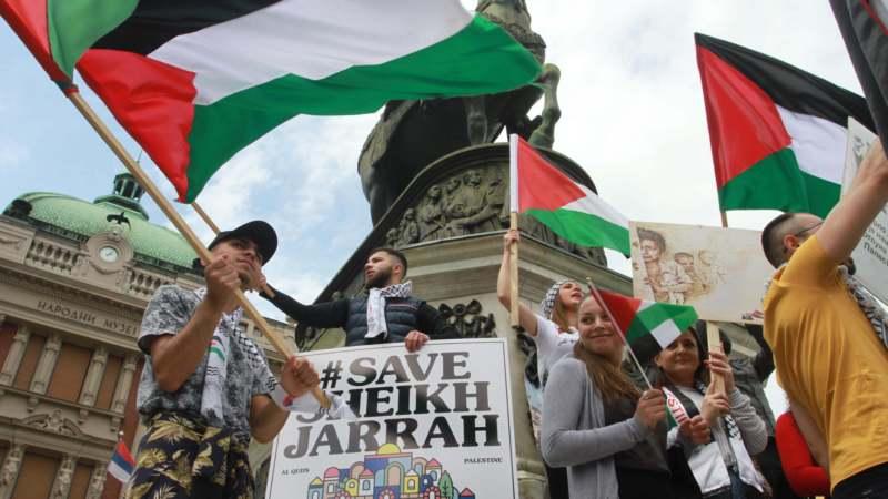 Skup Palestinaca u Beogradu s porukom: Sloboda za Palestinu 1