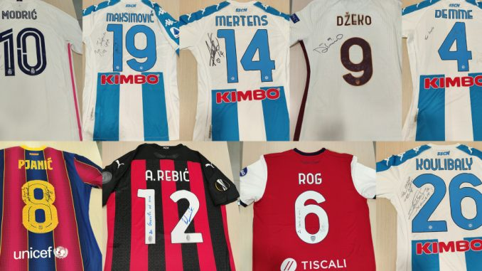 Svetski igrači se priključili Ronaldu i Mesiju na Mozzartov poziv i poklonili svoje dresove za pomoć malom Gavrilu 4