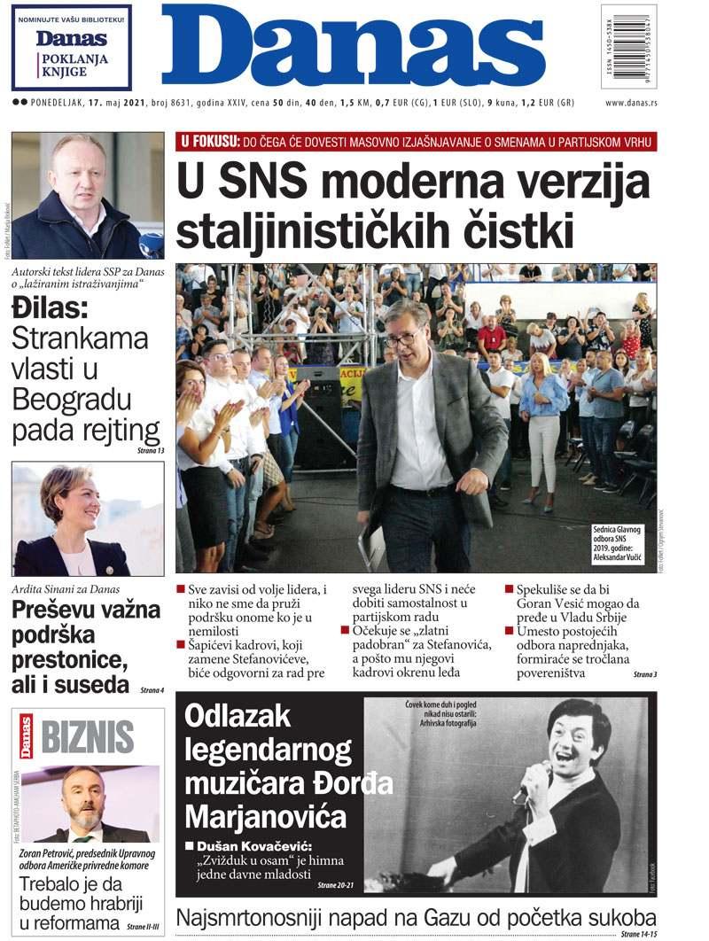 Naslovna za 17. maj 2021. 1