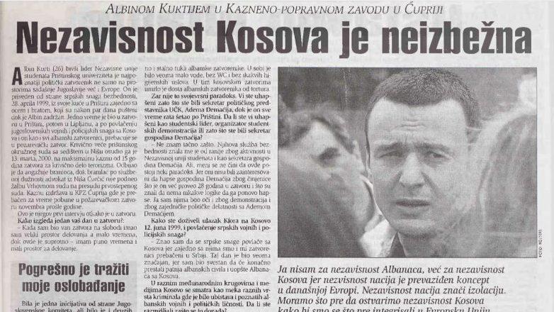 Nekada Miloševićev osuđenik, danas premijer Kosova 1