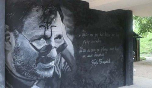 Ustaškim obeležjem oskrnavljen mural posvećen Đorđu Balaševiću na Limanu (VIDEO) 5