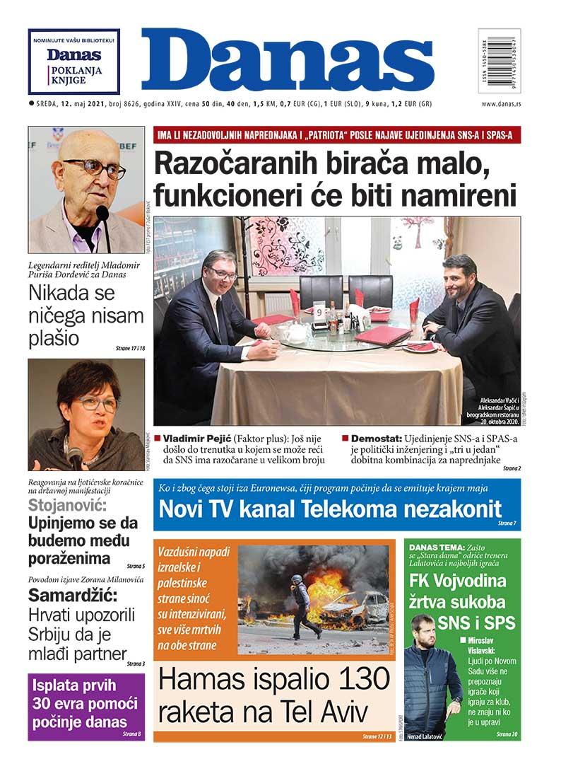 Naslovna za 12. maj 2021. 1