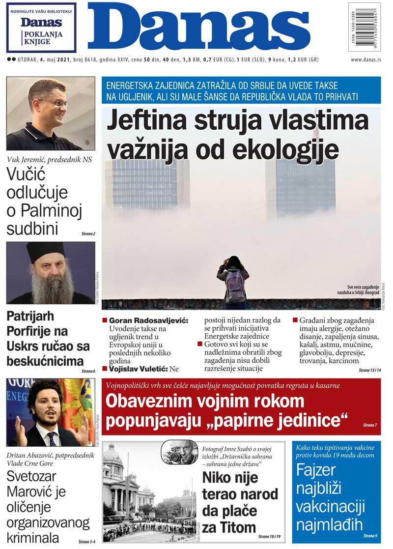 Naslovna za 4. maj 2021. 1