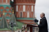 Putin na vojnoj paradi čestitao Dan pobede nad fašizmom (FOTO) 64