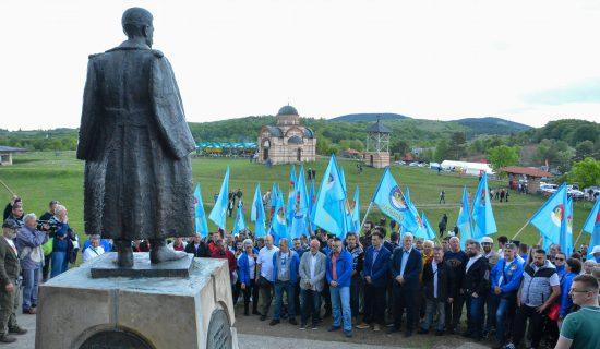 Koalicija POKS, DSS i 19 pokreta, stranaka i udruženja održala skup na Ravnoj Gori 1