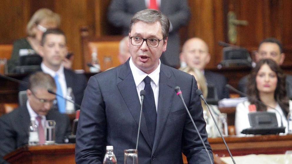 Atmosfera u parlamentu tokom obraćanja Vučića nalikovaće sednici GO SNS 16