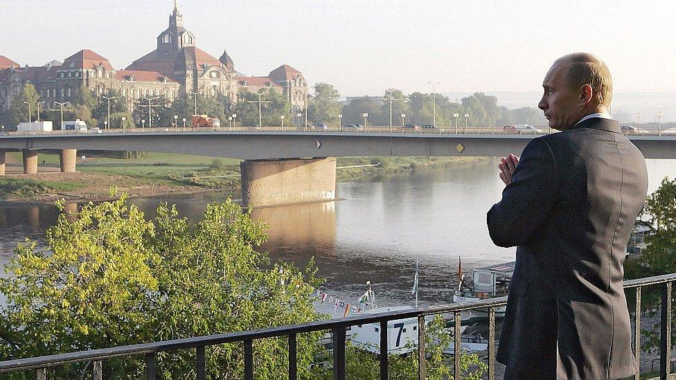 Putin v Drezdene v 2006 godu