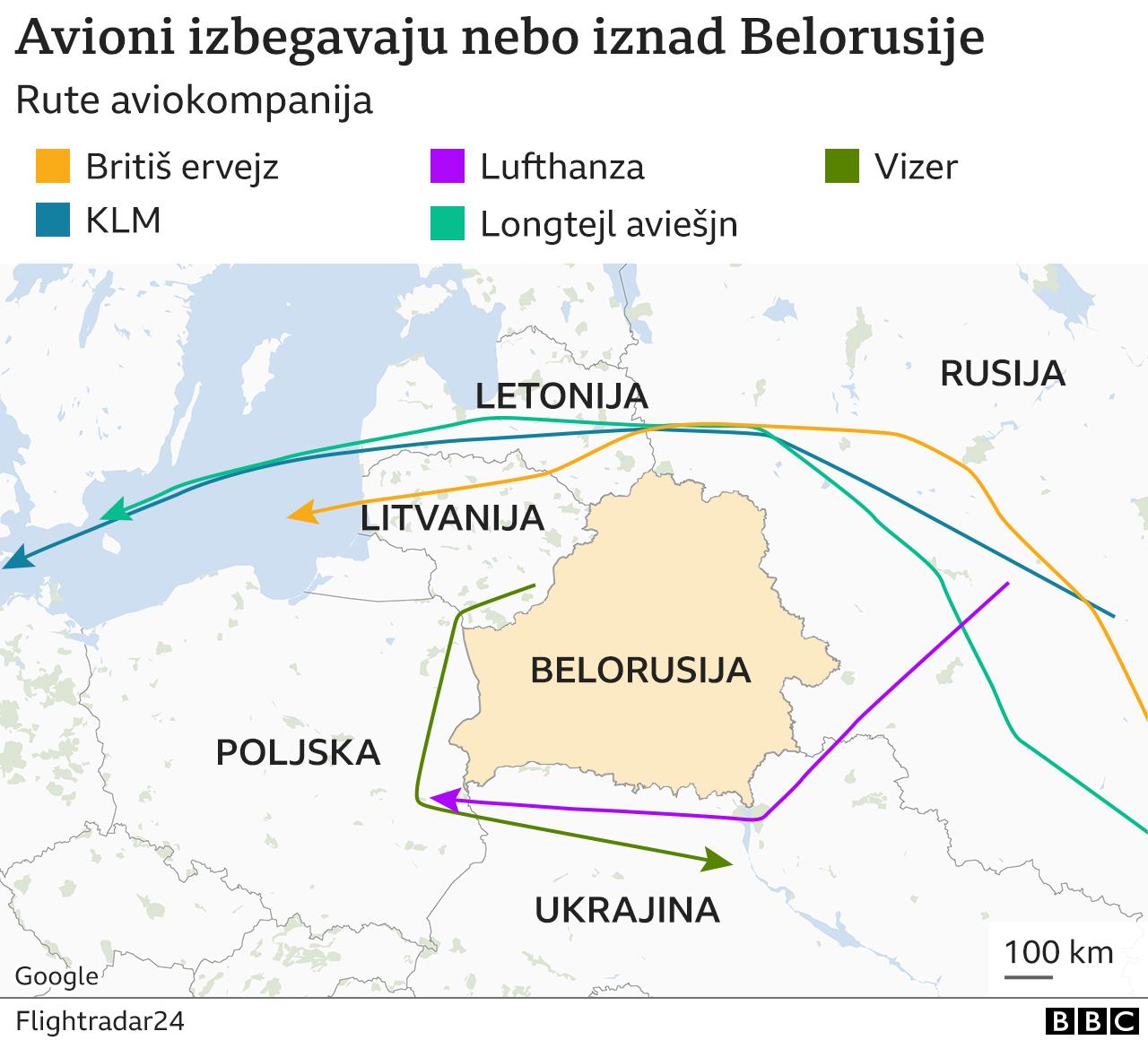 Belorusija, avioni