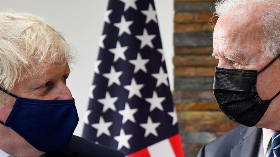 Prime Minister Boris Johnson and US President Joe Biden