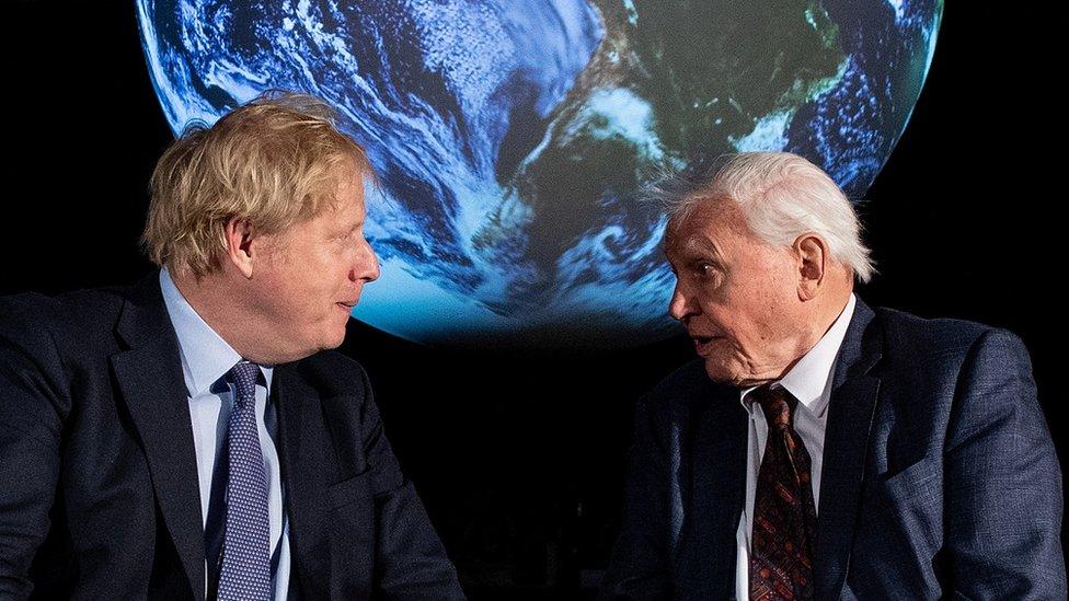 Boris Džonson i Dejvid Atenboro