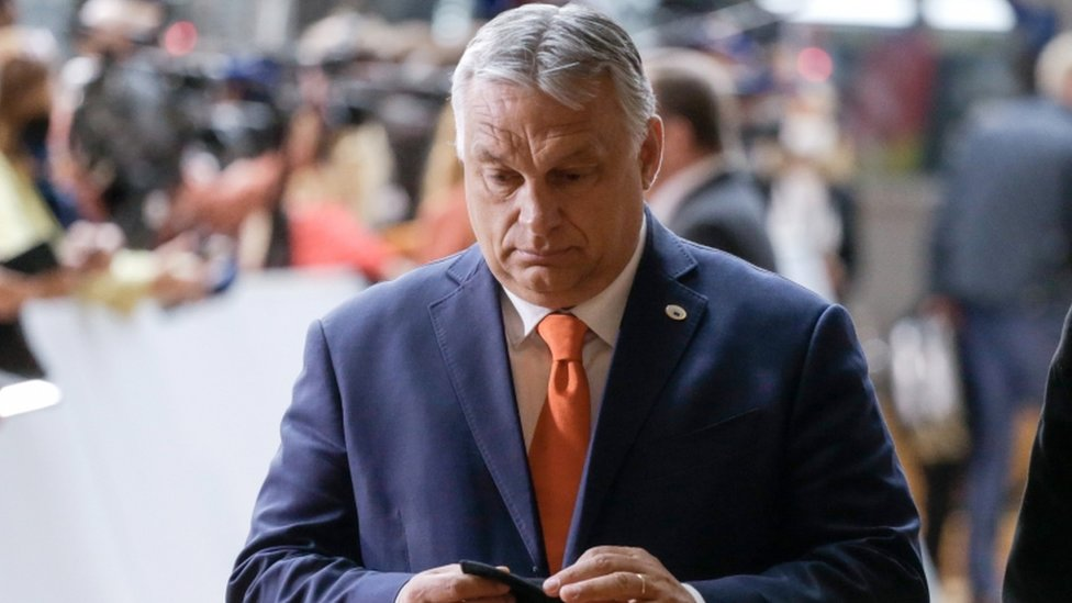 Hungarian Prime Minister Victor Orban arrives on the first day of a European Union (EU) summit at The European Council Building in Brussels, Belgium, 24 June 2021