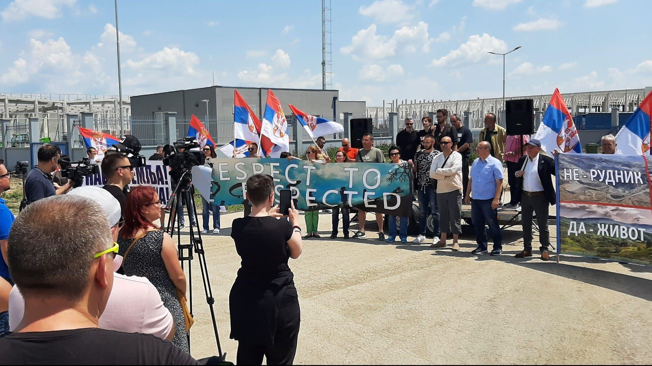 Zrenjanin: Veliki protest ispred Linglonga, protestanti traže poštovanje zakona i očuvanje životne sredine 1