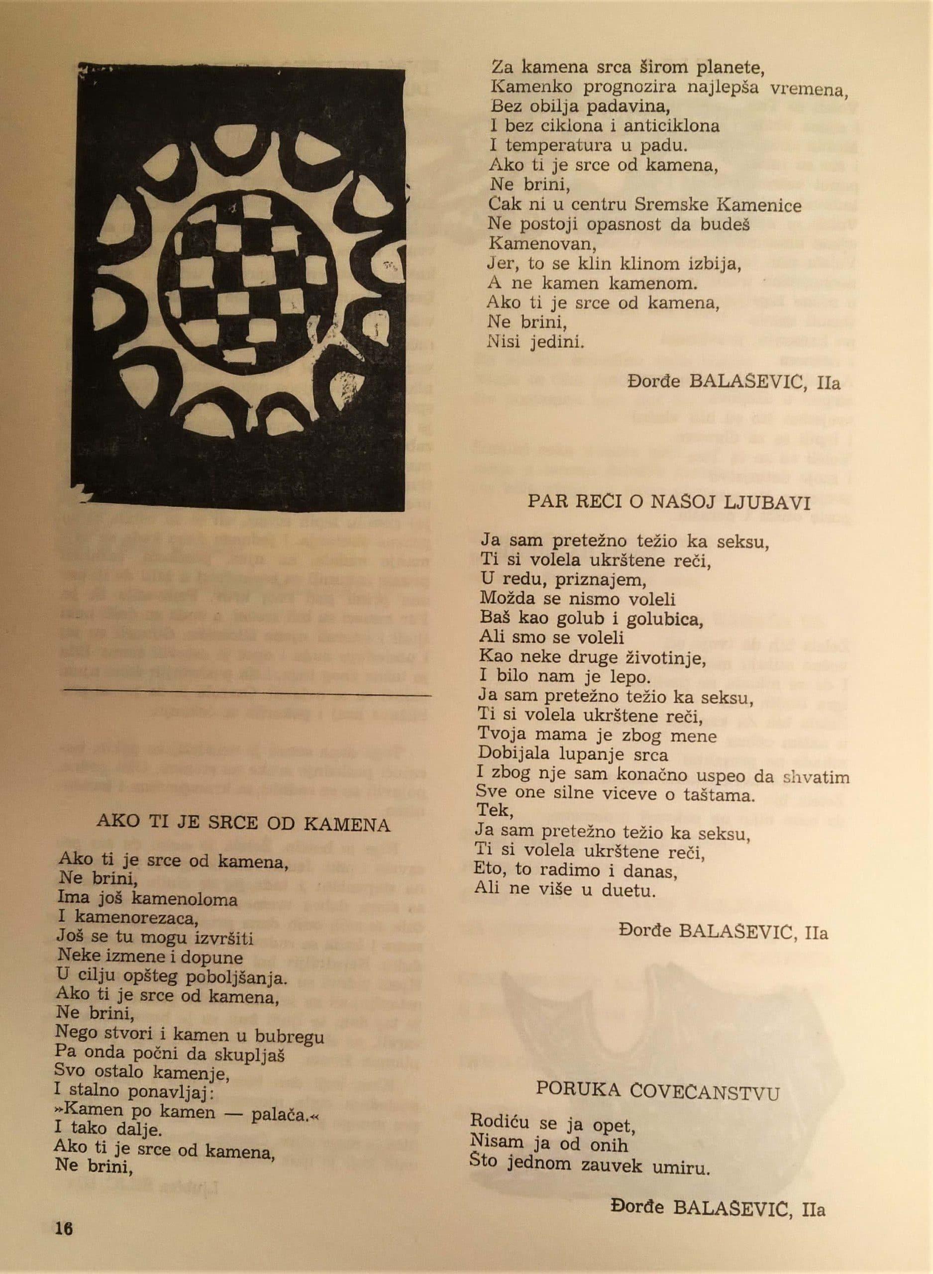 Dosad neobjavljene pesme Đorđa Balaševića iz gimnazijskih dana 2