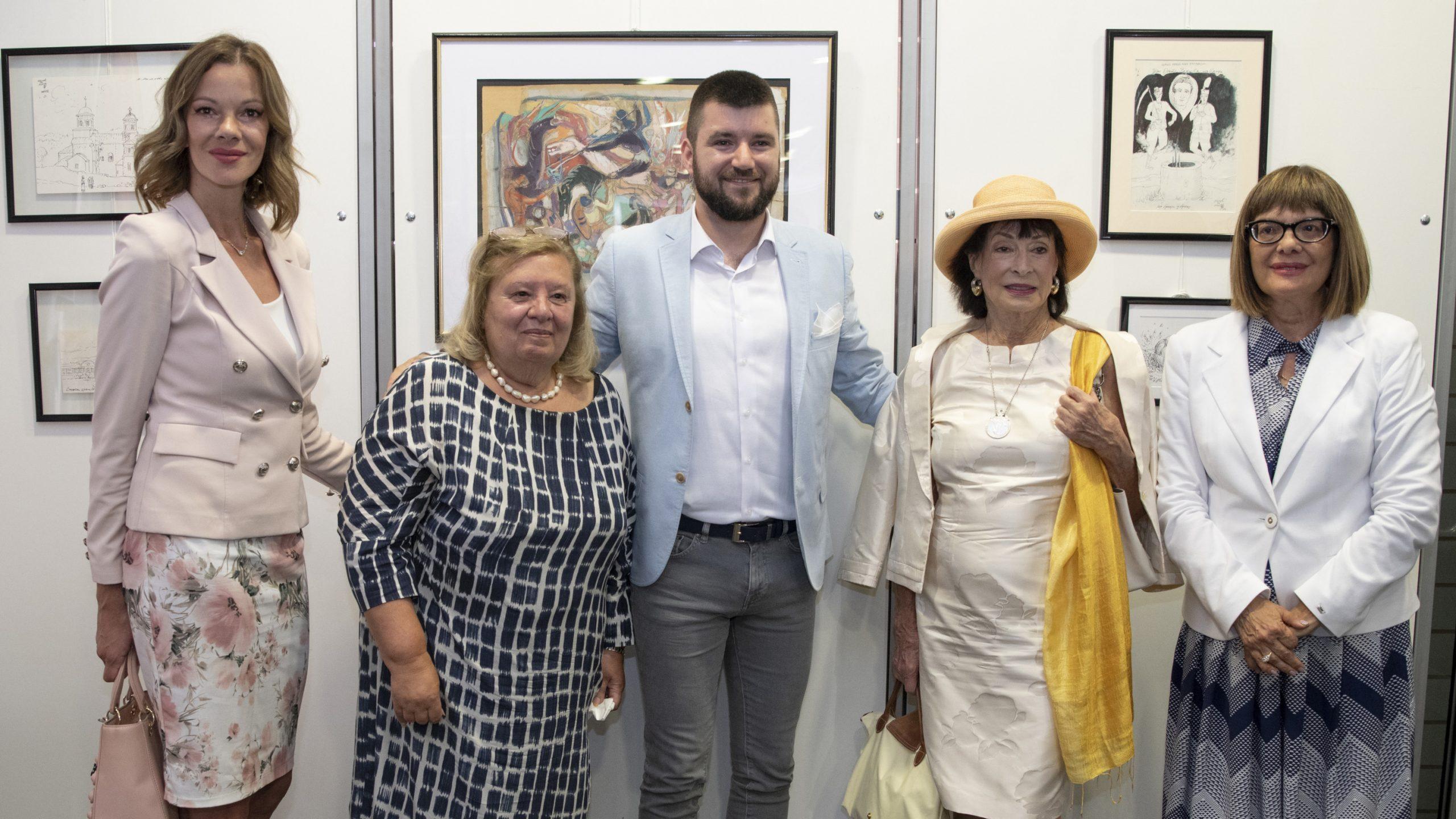 Gojković otvorila izložbu crteža Milića od Mačve 1