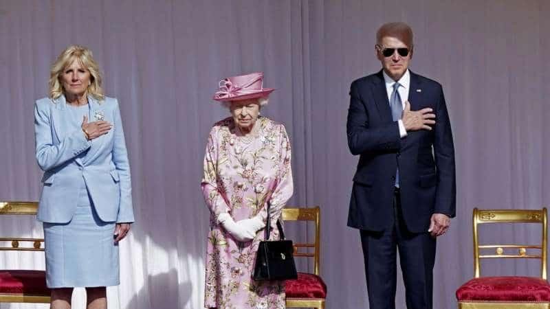 Bajden na čaju kod Kraljice u dvorcu Vindzor 1