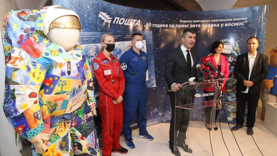 Ruski kosmonauti zatvorili izložbu Srpska i ruska filatelija o kosmosu 16