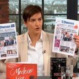Premijerka povezala naslovnu stranu Danasa i tvit s pozivom na ubistvo Vučića 11