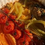 Pečeni čeri paradajz sa belim mesom (recept) 3