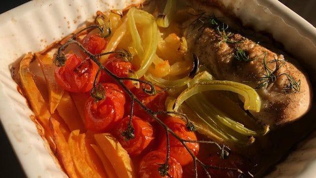 Pečeni čeri paradajz sa belim mesom (recept) 1