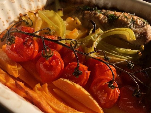 Pečeni čeri paradajz sa belim mesom (recept) 2