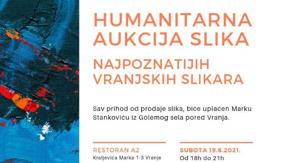 Humanitarna aukcija slika 19. juna u Vranju za pomoć Marku Stankoviću 1