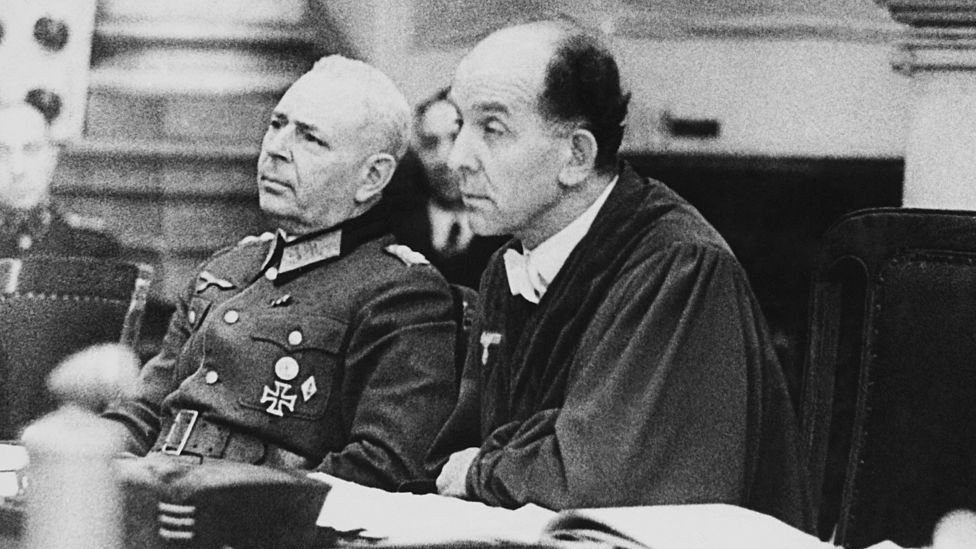 Known as Hitler's judge, Roland Freisler (R) found Sophie and Hans Scholl and Christoph Probst guilty of treason on 21 February 1943
