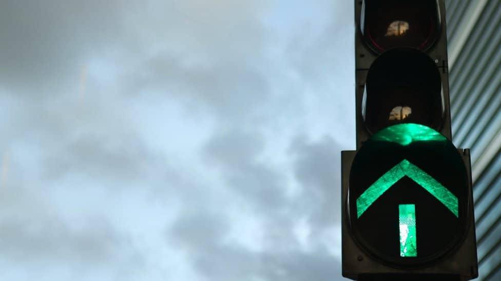 Zelenый svetofor