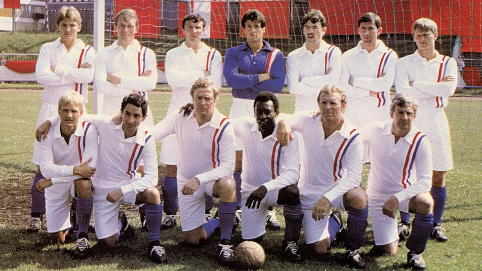 The Allied team in Escape to Victory
