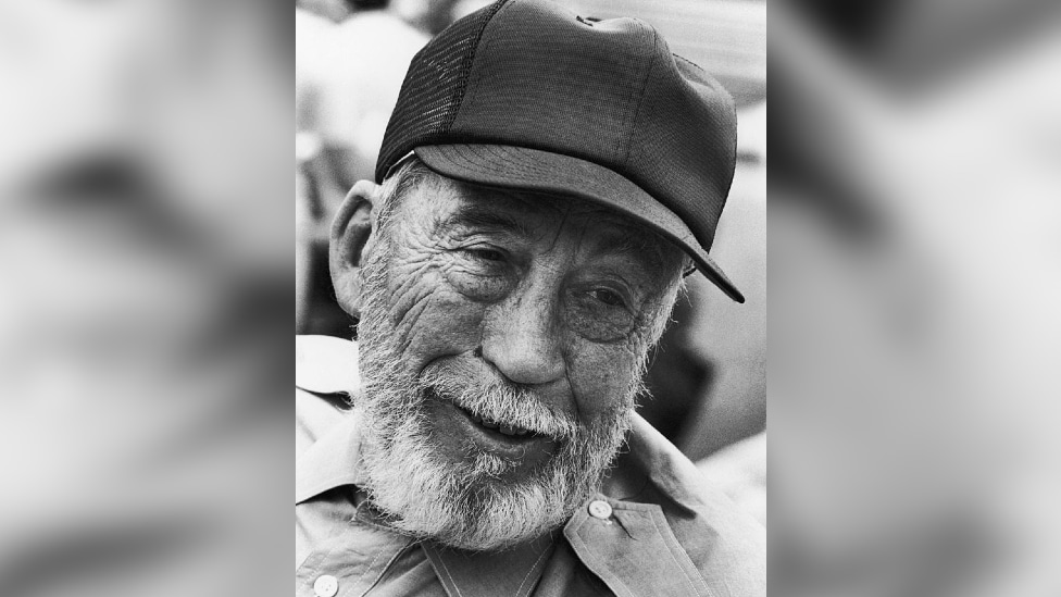 John Huston on the set of Escape to Victory