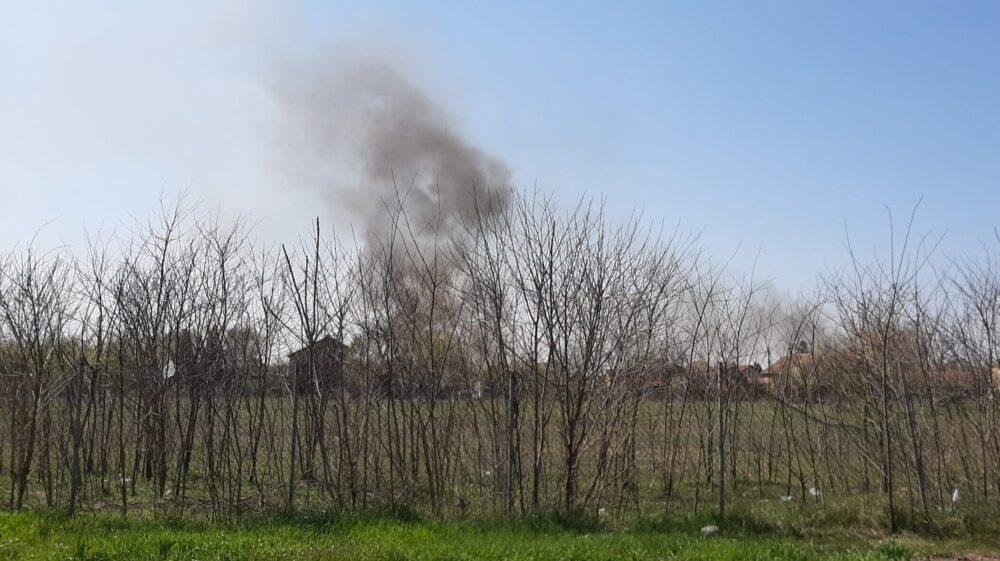 Požar u blizini zrenjaninske deponije 1