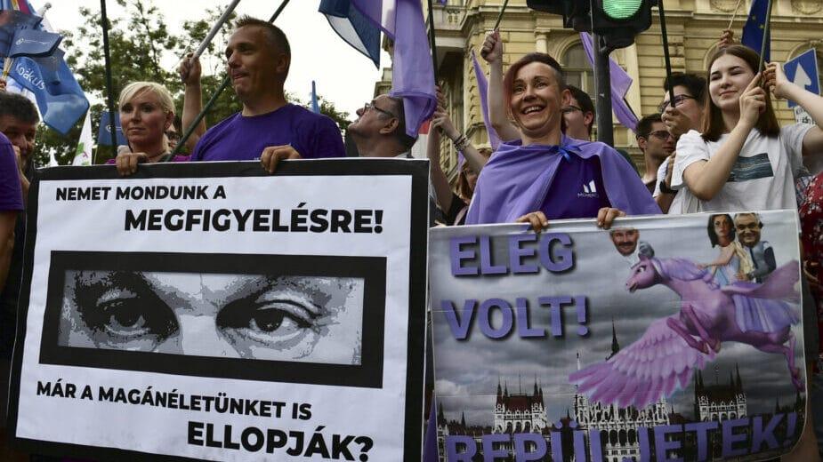 Mađari protestovali zbog špijuniranja tražeći ostavku Vlade 1