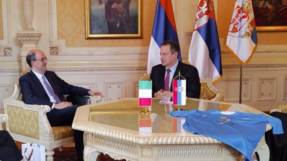 Dačić sa ambasadorom Italije uoči posete Rimu 1