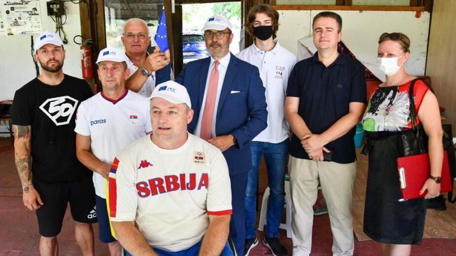Amabasador Fabrici posetio trening srpskih paraolimpijaca 1